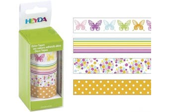 Baier & Schneider Adhesive Hanging Ornament Tape Tapes Butterflies – Removable Bandgröß
