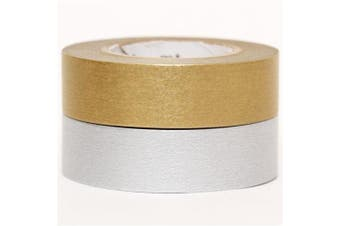Gold and Silver Washi tape rolls