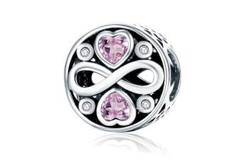 (infinity love) - CHENGMEN Red Heart Infinity Love Charms 925 Sterling Silver for Mother's Day Beads Fits European Bracelet