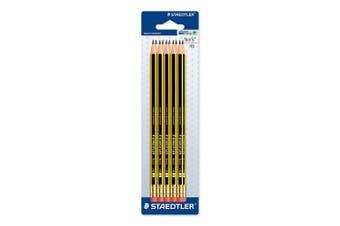 (Pencil with Eraser, Pack of 10) - STAEDTLER 122-2 BK10 Noris HB Pencil with Eraser Tip, Double Stacked, Pack of 10