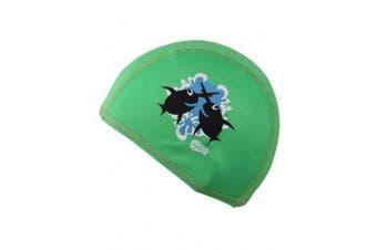 Childs Boys Girls Childrens Kids Swimming Hat Swim Cap Green Beco