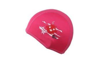 Childs Boys Girls Childrens Kids Swimming Hat Swim Cap Pink Beco