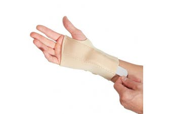 (Large Left (17-19 cm)) - Actesso Beige Wrist Support Carpal Tunnel Splint Brace - Provides Pain Relief from Carpel Tunnel Syndrome, Sprains, Arthritis and Wrist Injury - Medically Approved - NHS Use (Large Left)