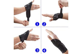 (Black, Small Left (12-16 cm)) - Actesso Elasticated Thumb Support Brace - Medical Splint Reduces Pain from Thumb Injury, Sprains, Tendonitis, De Quervain's, Fractures or for Support Post Operation. Left & Right & All Sizes (Black, Small Left (12-16 cm))