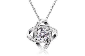 (1) - B.Catcher Women Necklaces Sterling Silver Cubic Zirconia Pendant Gemini Necklace