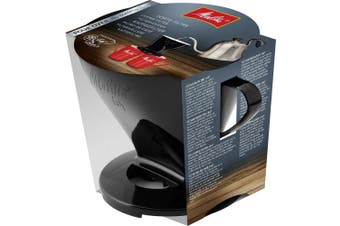 (Black) - Melitta Pour Over Size 1x4, 6761018, Filter Holder, Used with 1 Jug or 2 Cups, Plastic, Black