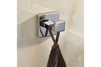 (Coat Hook) - CASEWIND Bathroom Single Coat and Towel Hooks Stainless Steel Wall Mount Solid Square Polished Finish Mirror Polished Stainless Steel