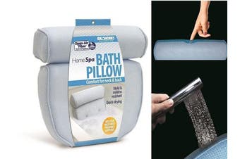 Home Spa Bath Pillow - Supportive Comfort For Neck And Back While In The Tub by Jobar International
