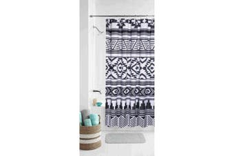 Mainstays Black and White Tribal Shower Curtain