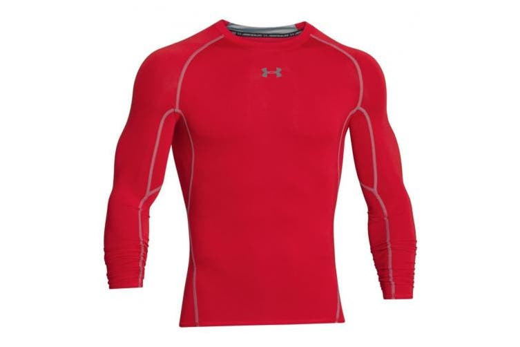 (XL, Red / Steel (600)) - Under Armour Men's Men's Compression Shirt Under Armour HeatGear Armour Long Sleeve Breathable Long-Sleeve Shirt for Men