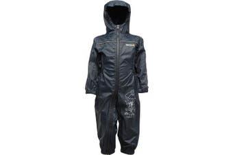 (48-60mts, NAUTIC NAVY) - Regatta Kids Puddle II Waterproof Romper Suit