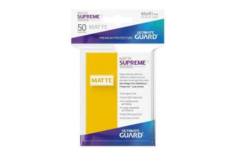 Ultimate Guard UGD010826 Supreme UX Sleeves Card Game, Matte Yellow