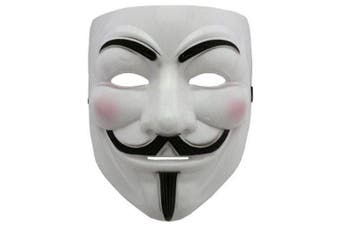 2015 NEW V for Revenge Mask with Eyeliner Narice Anonymous Guy Fawkes Fancy Adult Costume Accessories Halloween Mask Boolavard Ltd