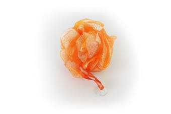 1541 London Exfoliating Bath & Shower Body Puff / Scrunchie / Buffer (Tangerine Orange)