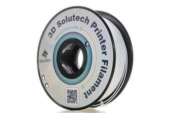 3D Solutech Real White 3D Printer PLA Filament 1.75MM Filament, Dimensional Accuracy +/- 0.03 mm, 2.2 LBS (1.0KG) - 100% USA