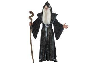(Large/X-Large) - Mens Dark Wizard Fancy dress costume Large/X-Large