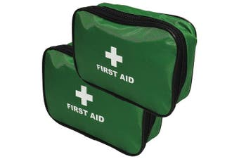 Qualicare Large Zip Top Bag Easy Carry Empty First Aid Supplies Pouch Single Bag - Twin Pack
