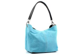 Aossta Ladies Real Italian Suede Leather Small Shoulder Handbag Tote Bag