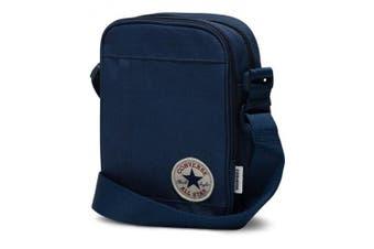 (Navy) - Converse Poly Cross Body Shoulder Bag, 22 cm, navy