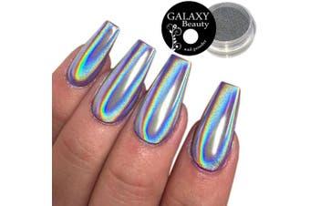 Galaxy Unicorn Rainbow Holographic Silver Mirror Effect Nail Powder, 1g
