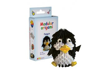 Modular Origami 188-Piece Small Penguin Paper Set, Multi-Colour