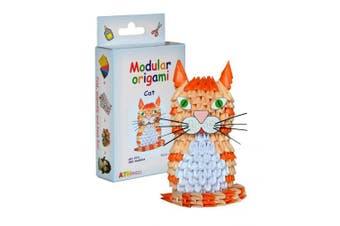 Modular Origami 382-Piece Small Cat Paper Set, Multi-Colour