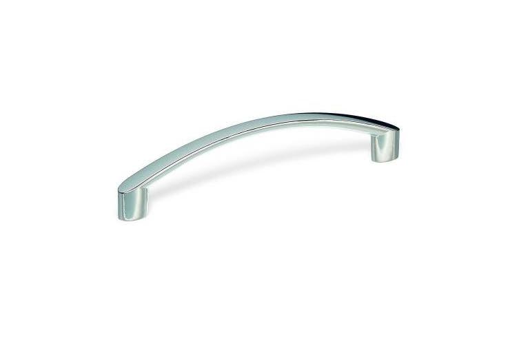SCHWINN 22347 Zamak / Furniture Handle, Bow handle, 128 MM Hole Spacing Shiny Chrome