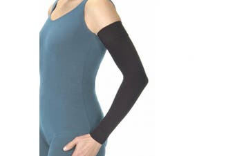 (6, Black) - BSN Medical 102376 Jobst Bella Strong Armsleeve with Silicone Band, 30-40 mmHg, Regular, Size 6, Black