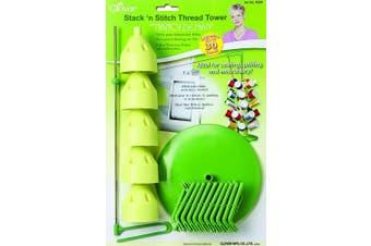 Clover Stack 'n Stitch Thread Tower With Nancy Zieman-13cm - 2.2cm x 31cm