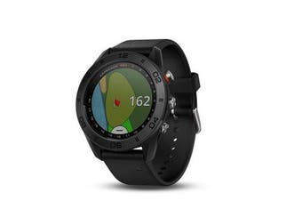 (black silicone band) - Garmin Approach S60 GPS golf watch with black silicone band