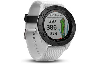 (white silicone band) - Garmin Approach S60 GPS golf watch with white silicone band