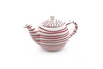(500ml, Dizzy Red) - Gmundner Keramik Tea Pot, Dizzy Red, 500ml