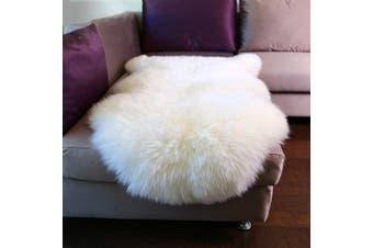 (Ivory White) - Dreamaker Fluffy Faux Fur Sheepskin Rug Chair Cover Seat Pad Home Carpet Floor Mat for Bedroom, Sofa, Living Room (Ivory White)