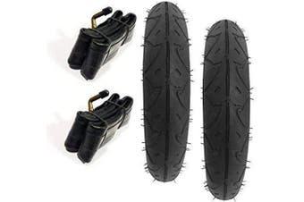 2 x Pram Tyres & 2 x Tubes 25cm x 2 Quinny Buzz Speedi Huack Roadster 25cm
