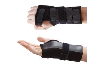 (Small Left (13- 15 cm)) - Actesso DELUXE Wrist Support Splint - Ideal Brace for Immediate Pain Relief from Carpal Tunnel - Arthritis - or Sprains. UK Made