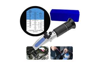 HH-Tec Refractometer Antifreeze Raktometer for Motor Vehicles Coolant Water, Ethylene Glycol, Battery Acid, G11, G12, Propylene Glycol G13 Isopropanol Tester Auto Tool Anti Freeze Tester