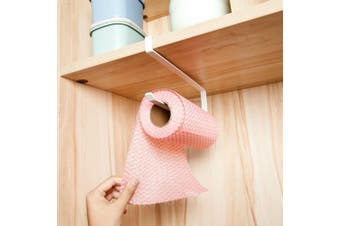 Alliebe Paper Towel Holder Dispenser Under Cabinet Paper Roll Holder Rack without Drilling for Kitchen Bathroom