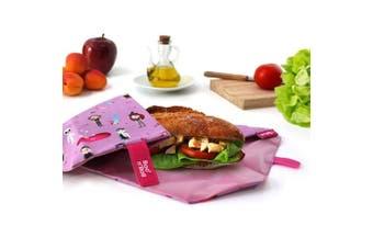 (Purple) - NEW - Roll'eat- Boc'n'Roll Kids Fantasy (purple) - Reusable sandwich wrap - food bags - food wrap - lunch bag - zero waste - BPA Free