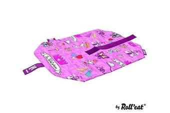 (Natural) - Roll'eat Boc'n'Roll-KIDS Princess Pink - Reusable sandwich wrapper
