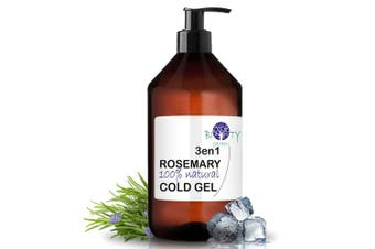 (1000 ml I 35.19 Fl oz) - biOty garden 3EN1 Rosemary & Comfrey Cool Gel Pain Relieving Gel For Muscles & Joints (1000 ml I 35.19 Fl oz)