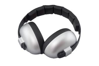(Silver - Bluetooth Edition) - Baby BANZ Bluetooth Earmuffs Hearing Protection – Ages 0-2 Years – The Best Earmuffs for Babies & Toddlers – Block Noise & Play Soothing Sounds, Music & Movies (Silver - Bluetooth Edition)