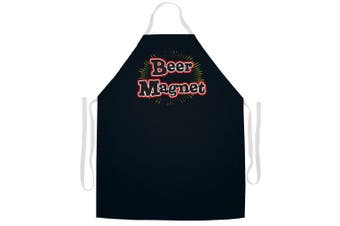 "Attitude Aprons Fully Adjustable ""Beer Magnet"" Apron-Black"