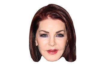 Priscilla Presley Celebrity Mask, Card Face and Fancy Dress Mask