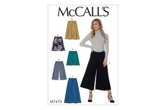 (Multi-colour, 182 x 274 cm) - Mccall's Patterns Misses Skirts, Shorts and Culottes, Multi-Colour, Sizes 14-22
