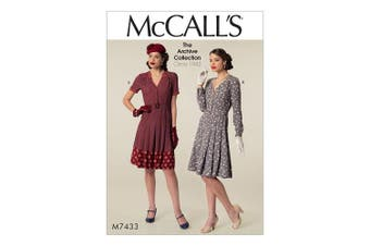 Mccall's Patterns Misses Dresses and Belt, Tissue, Multi-Colour, Sizes 6-14