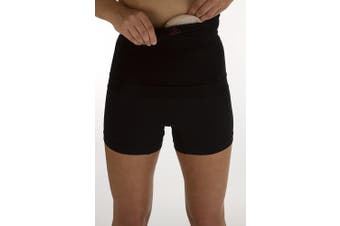 "(Black, S/M) - Ostomy, or Post Surgery Support waistband for men and women –10""depth - Level 1 Light Support by Comfizz (Black, S/M)"