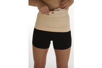 """(Neutral, S/M) - Ostomy, or Post Surgery Support waistband for men and women –10""""depth - Level 1 Light Support by Comfizz (Neutral, S/M)"""