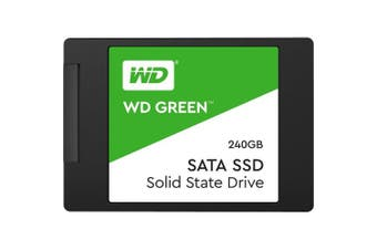 (240 GB, 2.5 Inch SATA) - WD Green 240GB 2.5 inch Internal SSD 3D NAND, Up to 540MB/s Read, Enhanced storage for your everyday