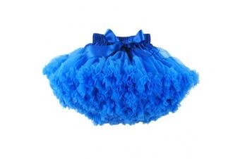 (3-4T, Royal Blue) - Buenos Ninos Baby Girl's Solid Colour Dance Tutu Pettiskirt 1-10T
