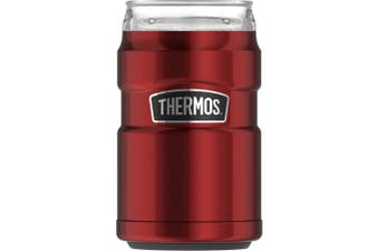 (Cranberry) - Thermos Stainless King Can Insulator with 360 Degree Drink Lid, Cranberry